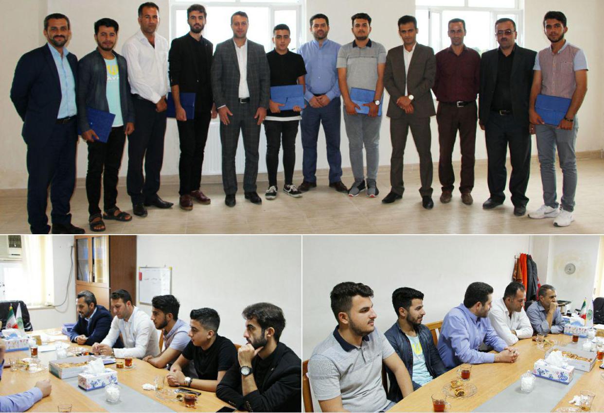 تجلیل از خبرنگاران حوزه رسانه ای در شهرداری چوبر