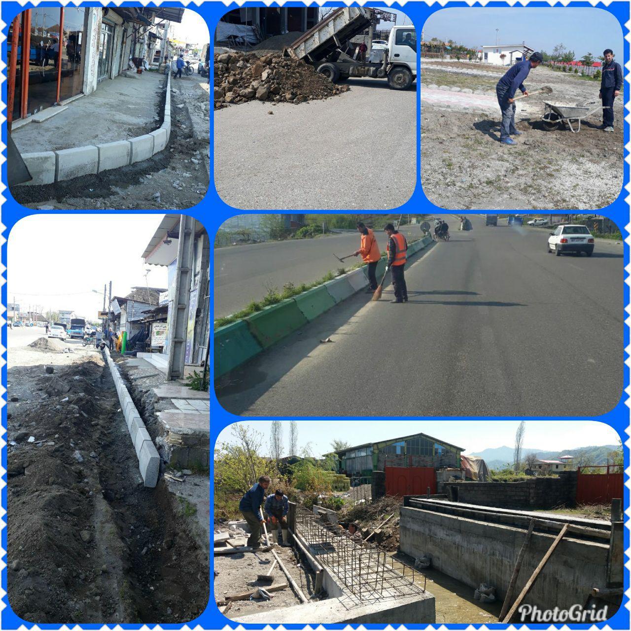 ادامه پروژه های شهرداری چوبر